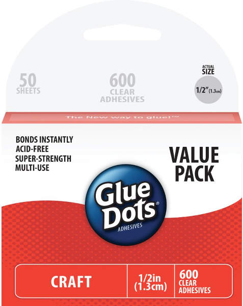 Glue Dots - Craft Half Inch Value Pack
