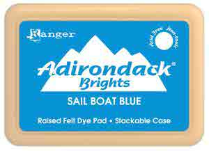 Adirondack Dye Ink Pad - {Brights} Sailboat Blue - Ranger