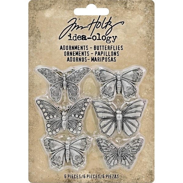 Idea-ology Adornments Butterflies  - Tim Holtz - Advantus