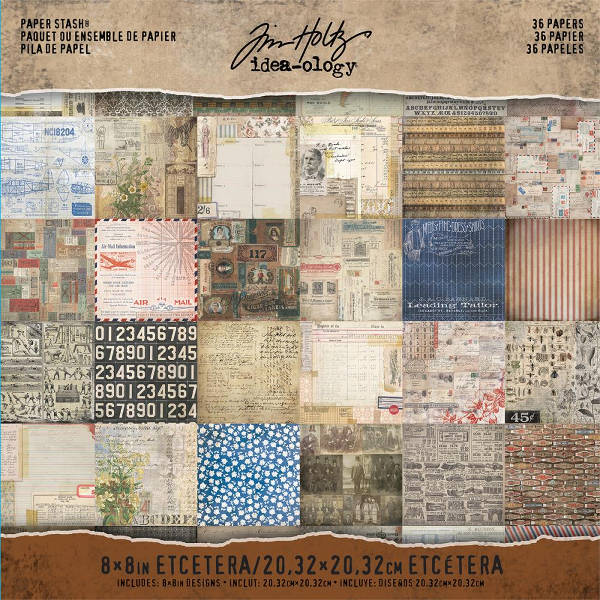 Idea-ology 8x8 Mini Paper Stash Etcetera - Tim Holtz - Advantus