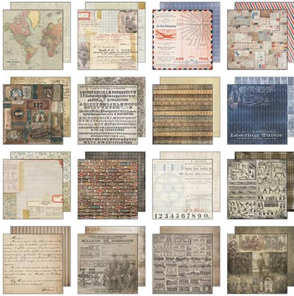 Idea-ology 8x8 Mini Paper Stash Etcetera - Tim Holtz - Advantus-1
