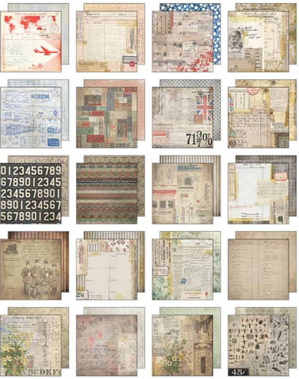 Idea-ology 8x8 Mini Paper Stash Etcetera - Tim Holtz - Advantus-2