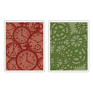 Texture Fades Embossing Folders - Alterations  Clock & Steampunk - Tim Holtz - Sizzix