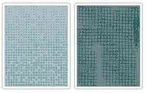 Texture Fades Embossing Folders - Alterations  Dot-Matrix and Gridlock - Tim Holtz - Sizzix