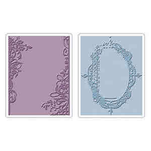 Texture Fades Embossing Folders - Alterations  Fancy & Floral Frames - Tim Holtz - Sizzix