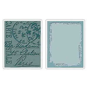 Texture Fades Embossing Folders - Alterations  Distressed Frame & Postal - Tim Holtz - Sizzix
