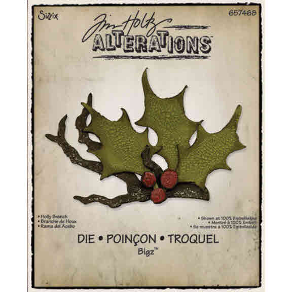 Bigz Die - Alterations Holly Branch - Tim Holtz - Sizzix