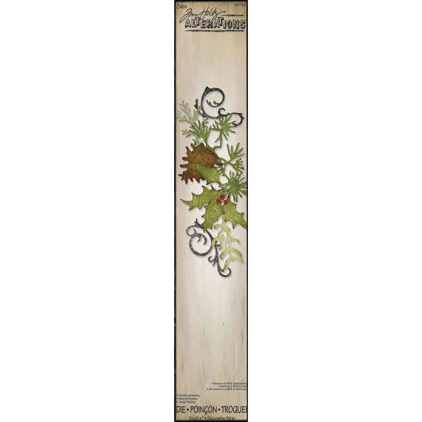 Sizzlits Decorative Strip Die - Alterations Festive Greenery - Tim Holtz - Sizzix
