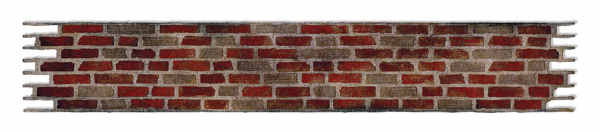 Sizzlits Decorative Strip Die - Alterations Brick Wall - Tim Holtz - Sizzix