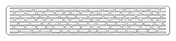 Sizzlits Decorative Strip Die - Alterations Brick Wall - Tim Holtz - Sizzix-1
