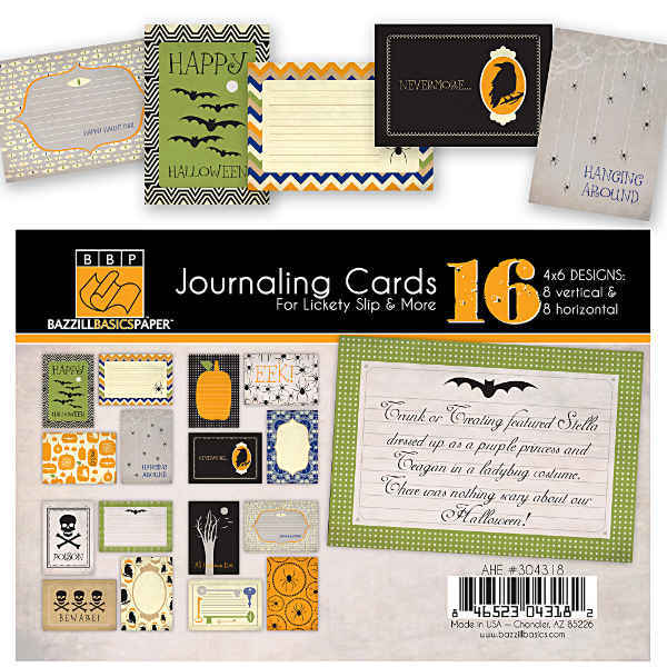 All Hallows Eve 4x6 Journaling Cards - Halloween - Bazzill