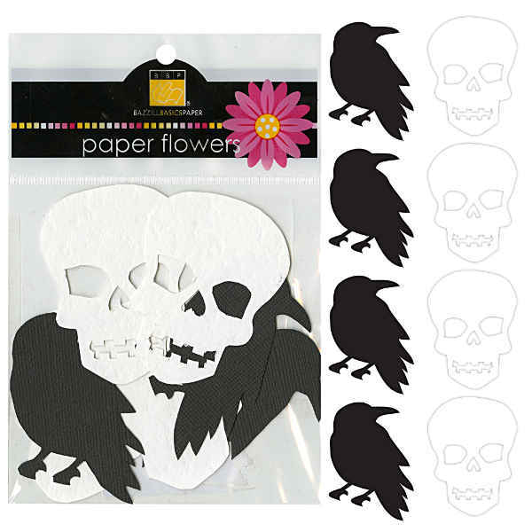 All Hallows Eve Paper Shapes Crows & Skulls - Halloween - Bazzill