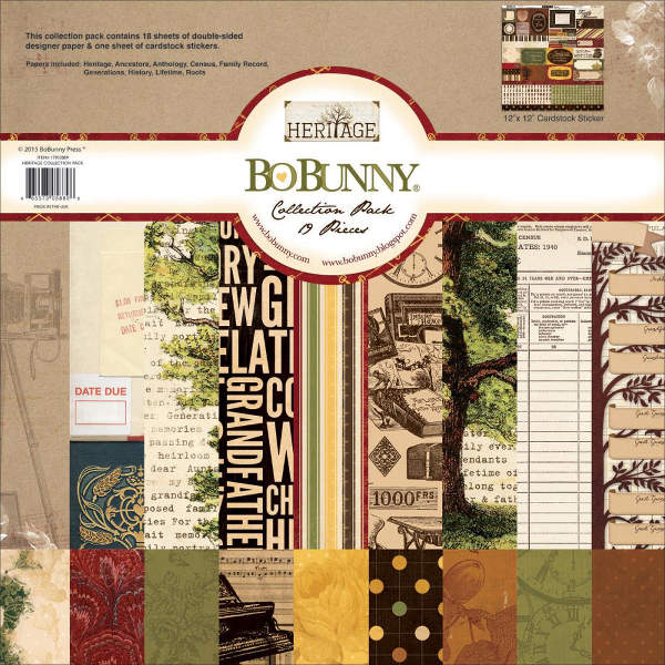 Heritage -  12x12 Collection Pack - Bo Bunny