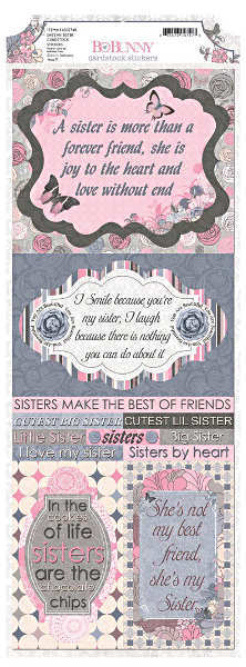 Isabella Shes My Sister Cardstock Stickers - Bo Bunny