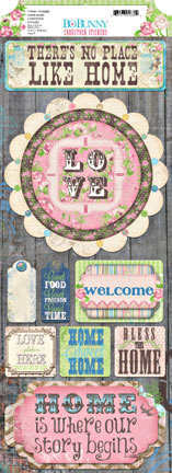 Prairie Chic Home Again Cardstock Sticker - Bo Bunny