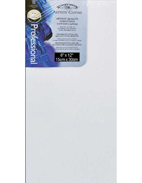 Canvas - Artists Quality Stretched Canvas - 6x12 - Winsor & Newton