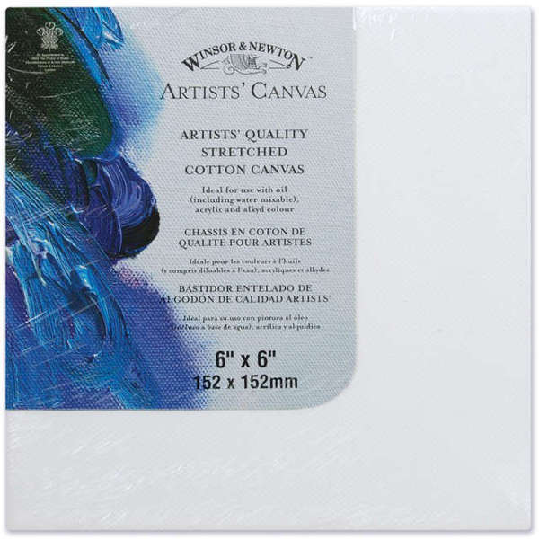 Canvas - Artists Quality Stretched Canvas - 6x6 - Winsor & Newton