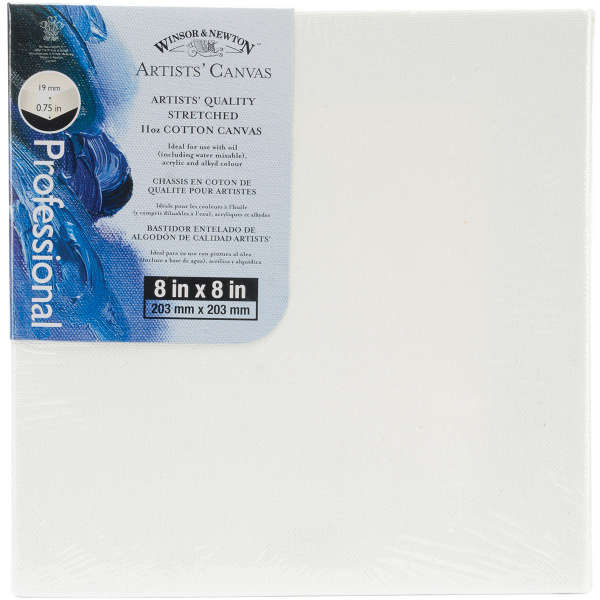 Canvas - Artists Quality Stretched Canvas - 8x8 - Winsor & Newton