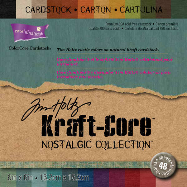 Kraft Core - Nostalgic - 6x6 Paper Pad - Tim Holtz - Core'dinations