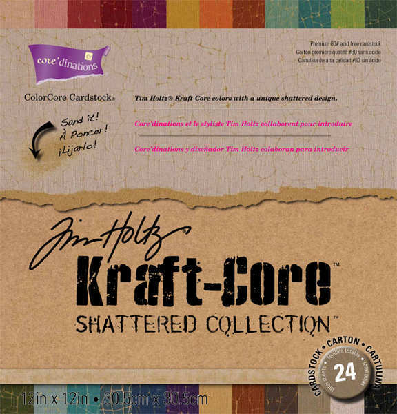 Kraft Core - Shattered - 12x12 Assorted Pack - Tim Holtz - Core'dinations