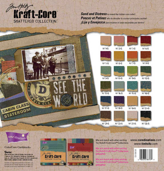 Kraft Core - Shattered - 12x12 Assorted Pack - Tim Holtz - Core'dinations-1
