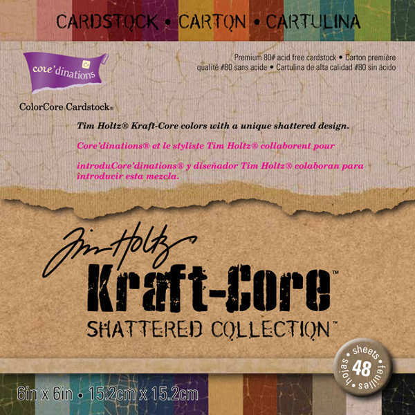 Kraft Core - Shattered - 6x6 Paper Pad - Tim Holtz - Core'dinations