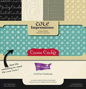 12 X 12 Core Impressions Cardstock - Cosmo Cricket Neutrals - Core'dinations
