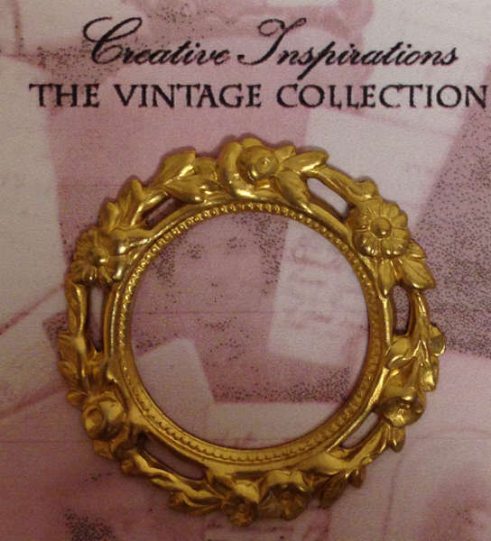 Frame - Round Gold Ornate - Creative Inspirations