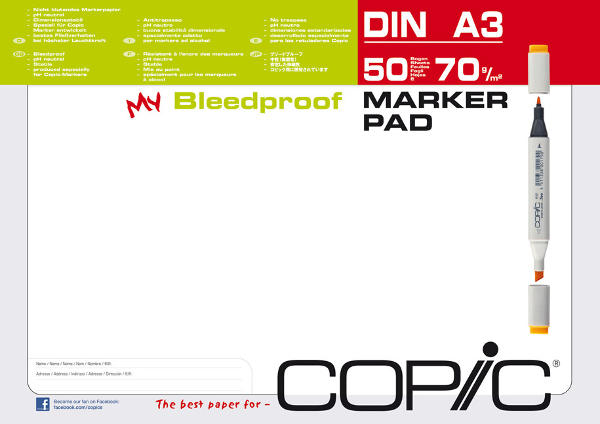 Alcohol Marker Pad Bleedproof A3 - Copic