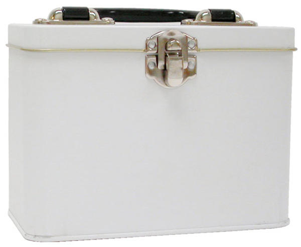 Lunch Box Tin - White 7x5x4.25 - Provo Craft
