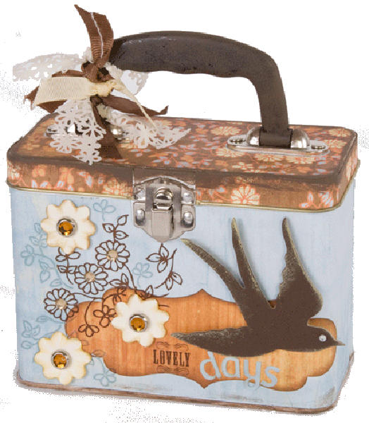 Lunch Box Tin - White 7x5x4.25 - Provo Craft-1