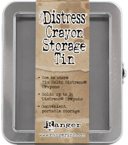 Distress Crayon Storage Tin - Ranger