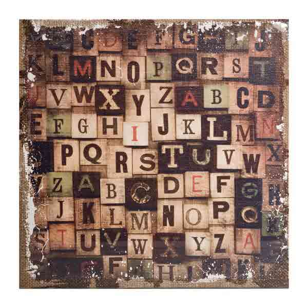 District Market -  Burlap Panels - Alphabetical - Tim Holtz - Advantus
