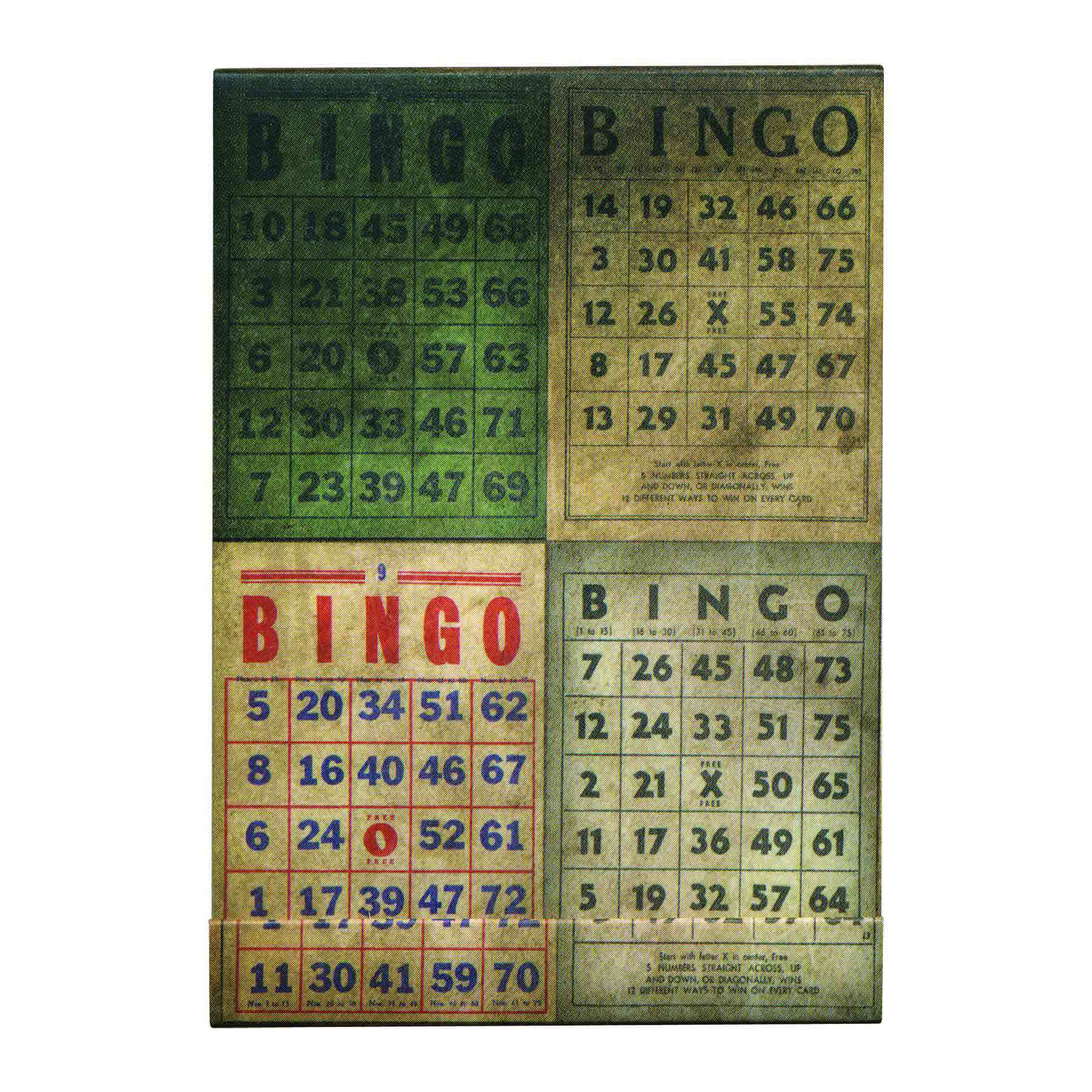 District Market - Matchbook Notepad Bingo - Tim Holtz - Advantus