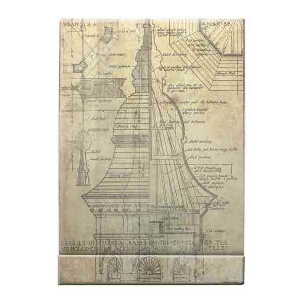 District Market - Matchbook Notepad Blueprint - Tim Holtz - Advantus