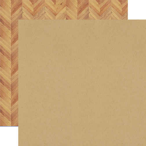 Everyday Eclectic  Solid Kraft/Wood - 12x12 Double-sided Paper - Echo Park