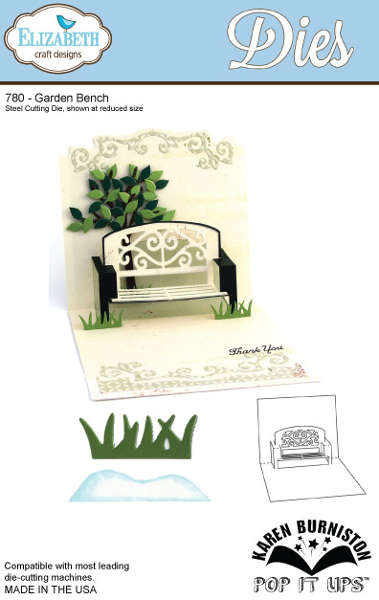 Dies - Pop It Ups - Garden Bench - Elizabeth Craft Designs