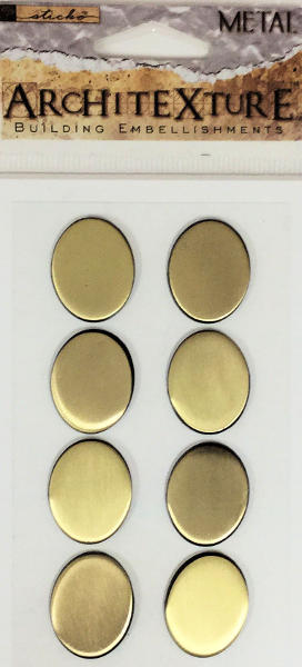 Architexture Brass Oval Tiles - EK Success