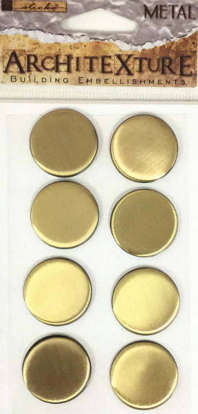 Architexture Brass Round Tiles - EK Success