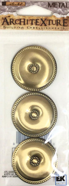 Architexture Brass Classical Rosettes - EK Success