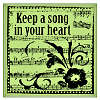 Inkadinkado - Inkadinkaclings - Keep A Song In Your Heart Mini - Cling Stamp - EK Success