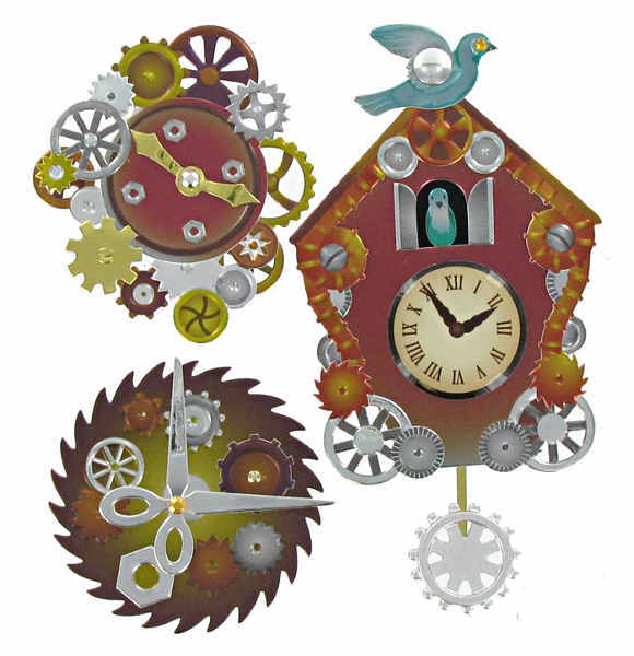 Jolees Boutique - Dimensional Stickers - Steampunk Coo Coo Clock - EK Success
