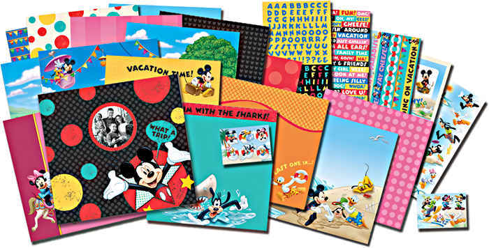 Disney - Mickey Scrapbook Kit - Vacation And Travel - EK Success