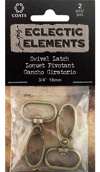 Eclectic Elements Swivel Latch Narrow Antique Brass - Tim Holtz