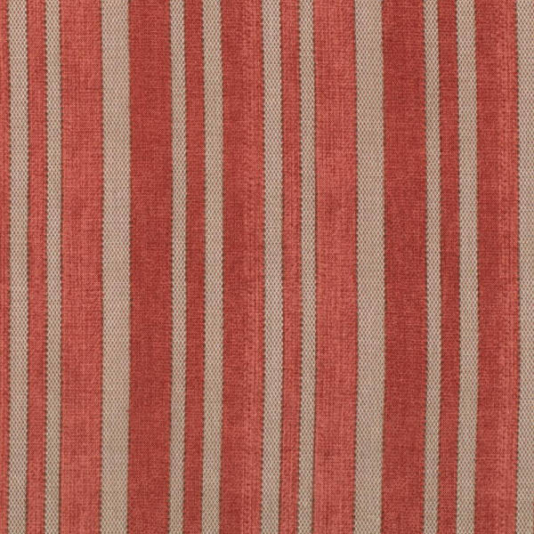 Eclectic Elements Fabric - Ticking Red 1/2yd - Tim Holtz