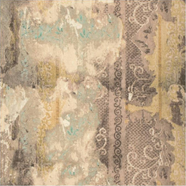Eclectic Elements Fabric - Wallflower Worn Wallpaper 1/2yd - Tim Holtz