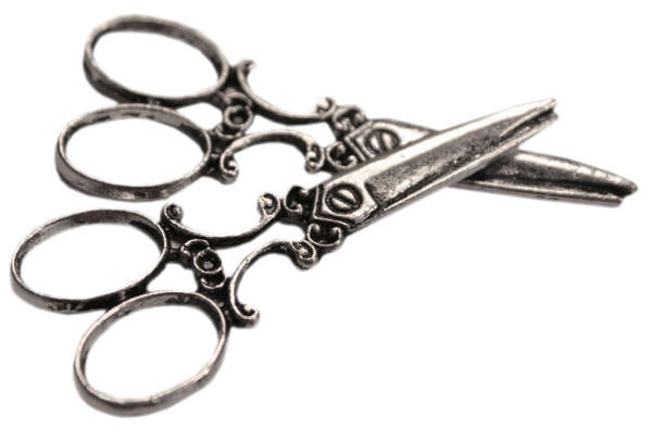 Silver Embellishments - Vintage Scissors - FabScraps