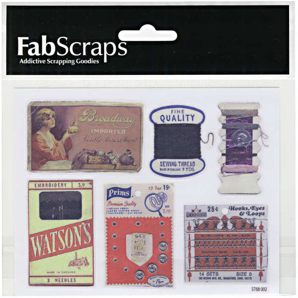 Oh! Sew Beautiful Clear Stickers - Labels - FabScraps