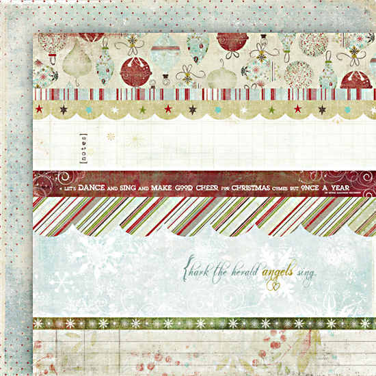 Christmas Magic Christmas Magic Strips - 12 x 12 Double-sided Paper - Fancy Pants