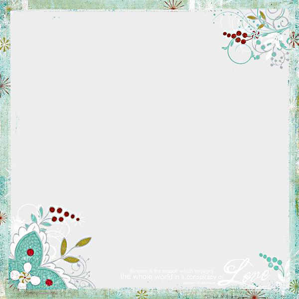 Christmas Magic  Holly Overlay - 12 x 12 Transparency - Fancy Pants